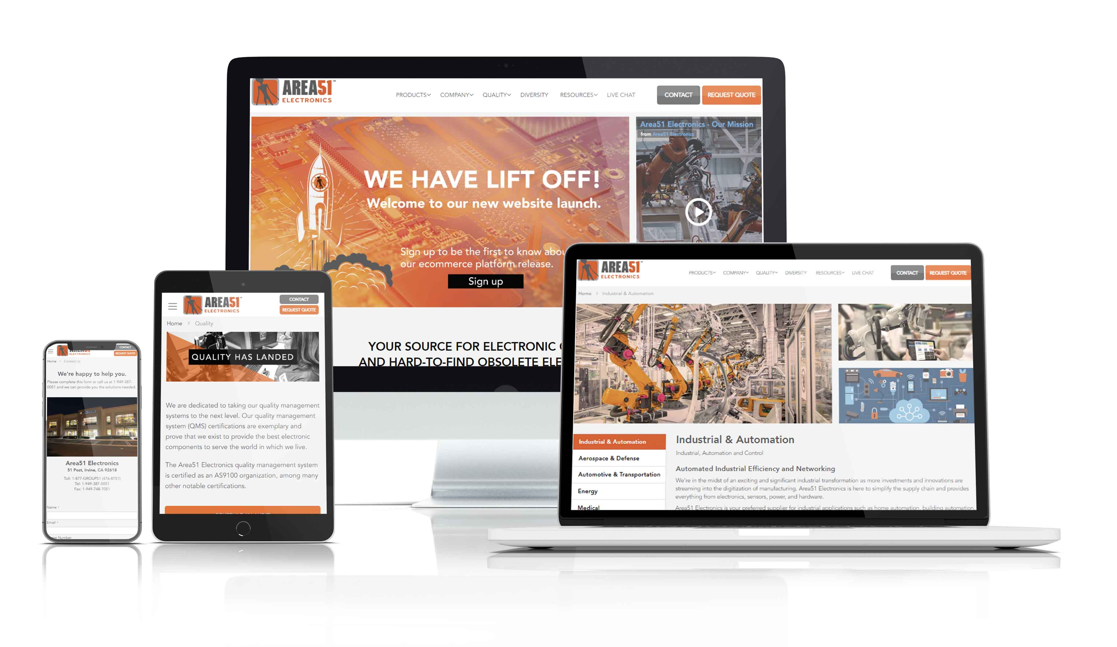 Introducing the new Area51 Electronics Website!