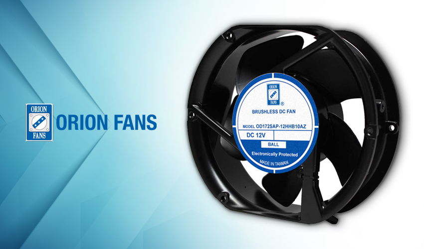 Orion Fans Launches All-in-One Reversible Flow DC Fan