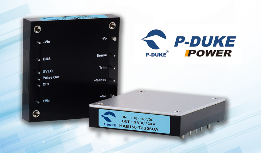 P-DUKE Offers New DC/DC Power Converters for Railway Applications