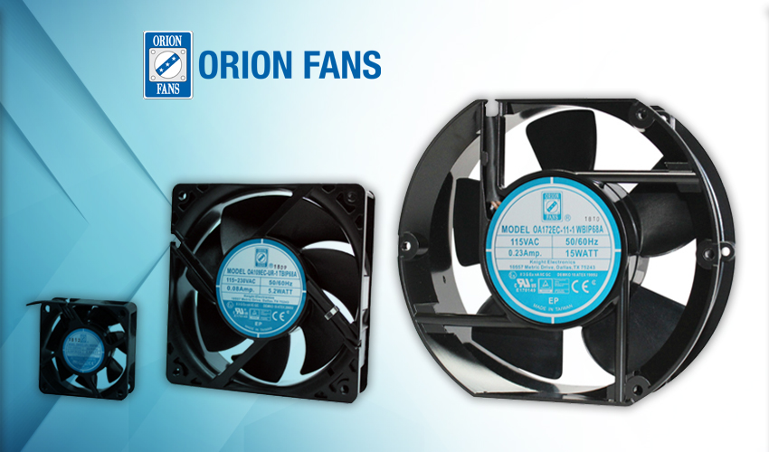 Orion Fans Offers Spark Proof IP68-ATEX Protection for Harsh AC Applications