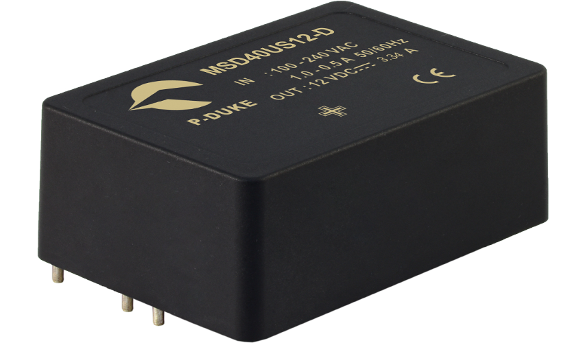 P-DUKE Features 40-65W Encapsulated AC/DC Power Supplies